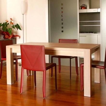 Udvideligt designbord i egetræ, L160 / 260xP90cm, Jacob