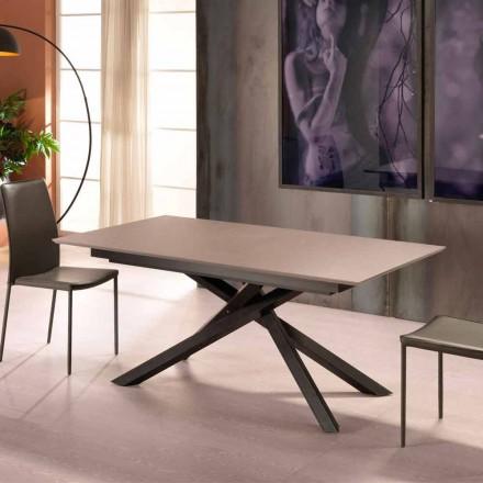 Udvideligt designbord med metalben, Lucera
