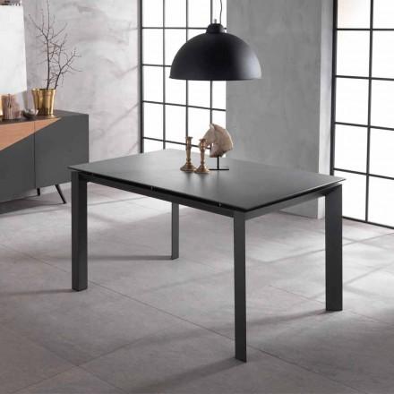 Udvideligt designbord med keramisk top og mdf, Nosate