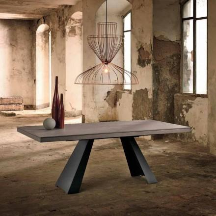 Udvideligt designbord i egetræ fremstillet i Italien Zerba