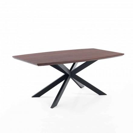 Design udvideligt bord i Mdf og metal - Torquato