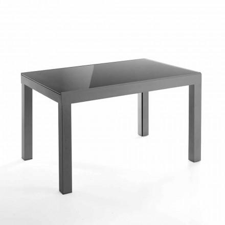 Design udvideligt bord i glas og metal - Guerriero