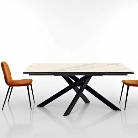 Udvideligt designbord i glaskeramisk fremstillet i Italien, Dionigi