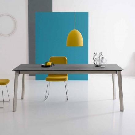 Design udvideligt bord i aluminium, fremstillet i Italien - Arnara