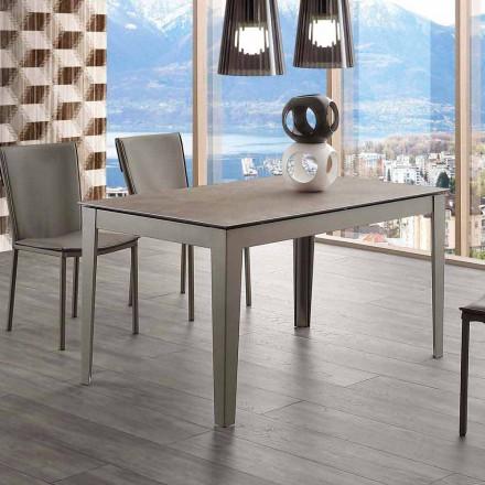 Udvideligt glaskeramisk og metal Cagliari bord op til 380 cm
