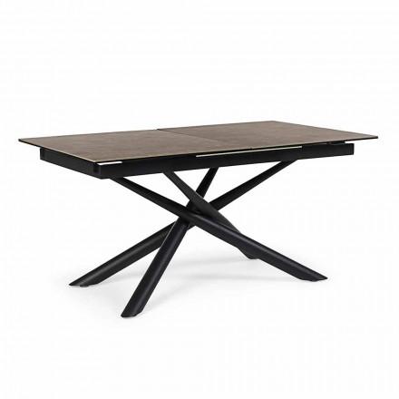 Forlængeligt bord Op til 220 cm i keramik og stålhæmning - Brianza