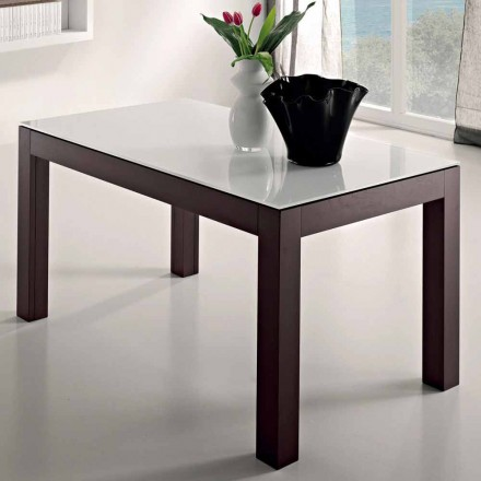 Udvideligt bord op til 270 cm i glas og asketræ fremstillet i Italien - Homer