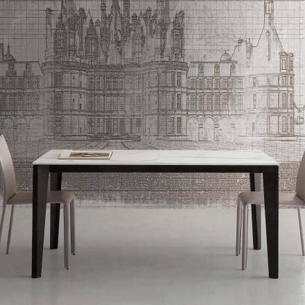 Udtrækkeligt bord op til 290 cm i glaskeramik Fremstillet i Italien - Polonio
