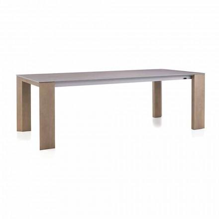 Udtrækkeligt bord Op til 300 cm i ben af keramik og træ - Ipanemo