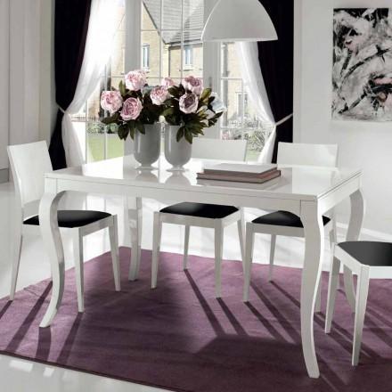 Udvideligt bord op til 350 cm i glans hvid Tanganika valnød - Leomas