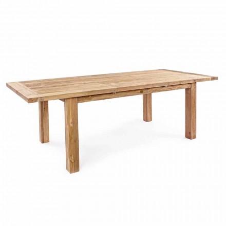 Homemotion - Hunter Teak Wood, der kan udvides til havebord op til 250 cm