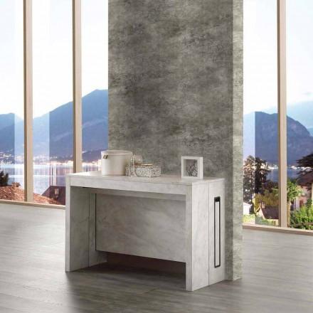 Udvideligt bord / konsol op til 8/10 sæder, marmor finish træ, Ussana