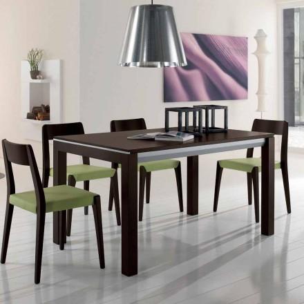 Udvideligt bord i asketræ med sidebånd malet grå - Ketla