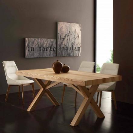 Udvidelse bord i massiv ask naturlig olived Texas