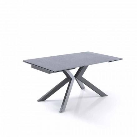 Design udvideligt bord i glas og metal - Piersilvio