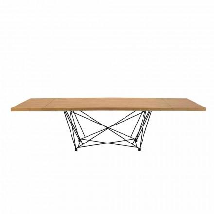 Moderne udvidelig tabel 14 sæder med lamineret top fremstillet i Italien - Ezzellino
