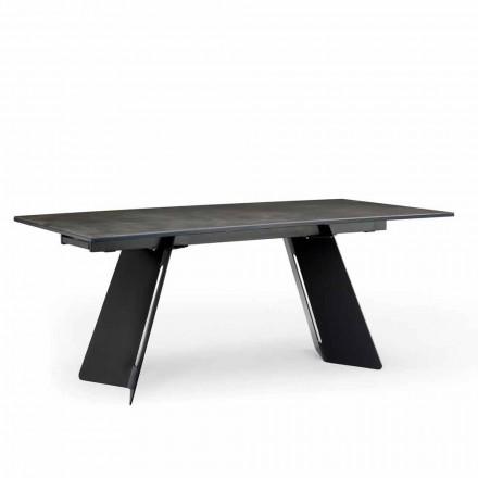 Moderne udvideligt bord med stentøj top lavet i Italien, Erve