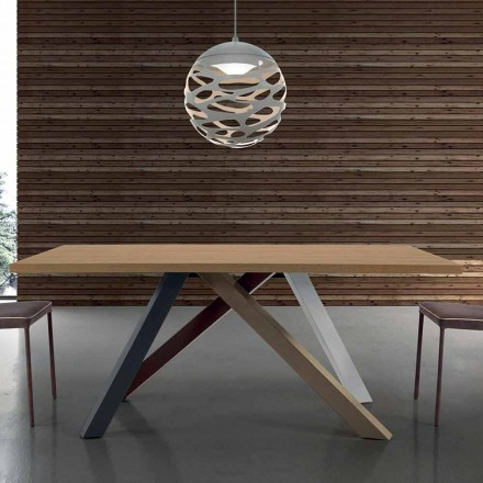 Moderne bord, der kan udvides med lamineret træplade lavet i Italien - Settimmio