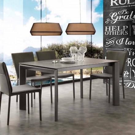 Moderne udvides bord med glaskeramisk top Philadelphia