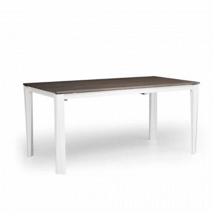 Moderne udstrækkeligt bord i hvid ask lavet i Italien, Medicina