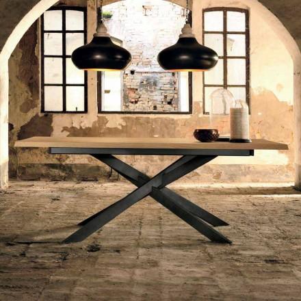 Design udvideligt bord i egetræ lavet i Italien, Oncino