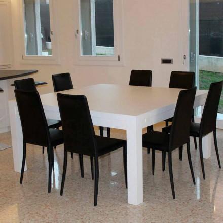 Moderne udvidelsesbord i massivt egetræ, 160x160cm, Jacob