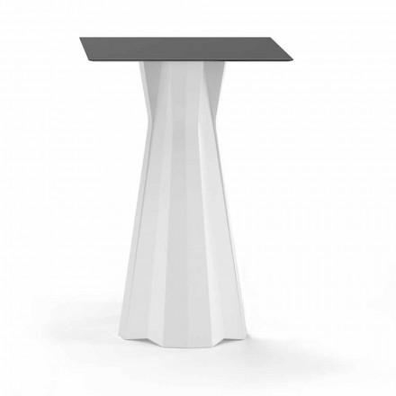 Højt bord med Hpl-top og polyethylenbase Fremstillet i Italien - Tinuccia