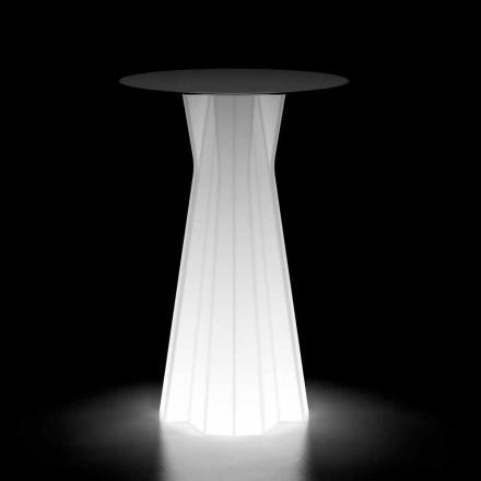 Udendørs højt bord med lysende base og Hpl top fremstillet i Italien - Tinuccia