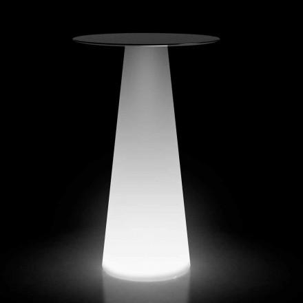 Udendørs højbord med LED-lys i HPL og polyethylen Fremstillet i Italien - Forlina
