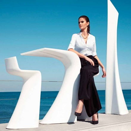 Højt udendørs bord H 100 cm Wing Vondom, moderne design i polyethylen