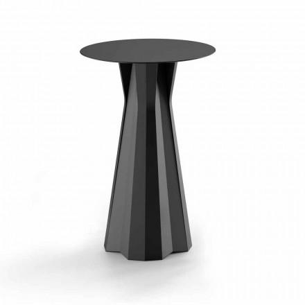 Højt polyethylenbord med rund Hpl-top Fremstillet i Italien - Tinuccia