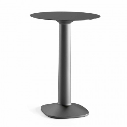 Rundt højbord i polyethylen med Hpl-top Fremstillet i Italien - Pito