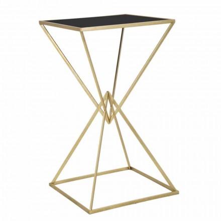 Moderne design firkantet barbord i jern og glas - Hily