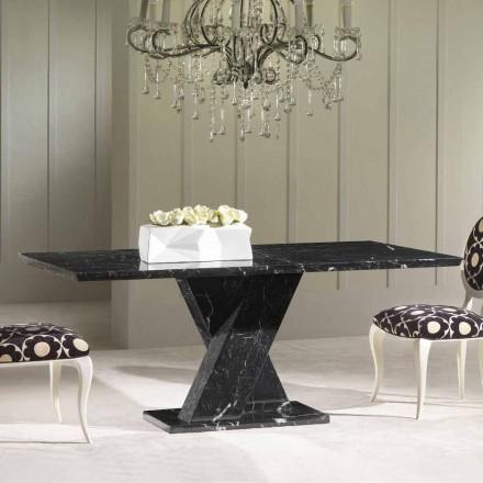 Spisebord lavet af sort marmor, klassisk design, 200x100 cm Byron
