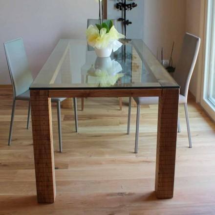 Bord med Crystal Top og Modero Ash Wood fremstillet i Italien - Asella