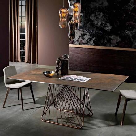Moderne bord med glaskeramisk overflade lavet i Italien, Mitia