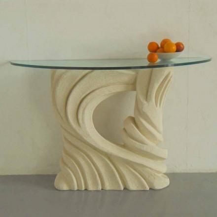 Konsolbord i Vicenza Stone, håndskåret af Emera
