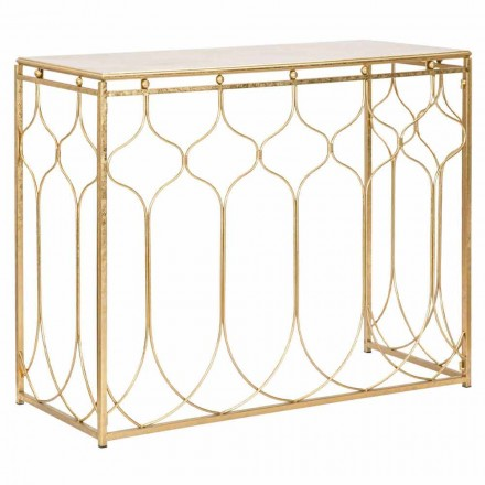 Modernt design rektangulært jernkonsolbord - Karine
