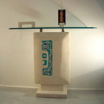 Rektangulær konsolbord Vicenza Stone håndskåret Soter
