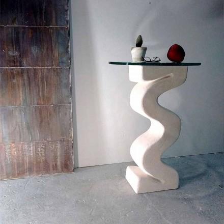 Runde bord i Vicenza Stone, håndskulptureret af Babylas