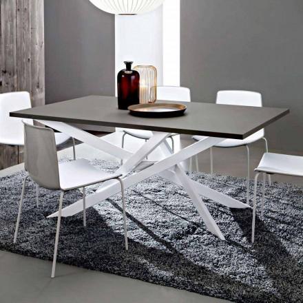 Lavet i Italien Kvalitets Fenix og køkkenbord i hvidt metal - Carlino