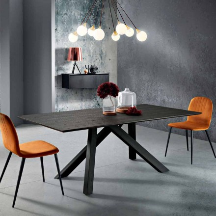 Spisebord i MDF træ og metal lavet i Italien, Wilmer