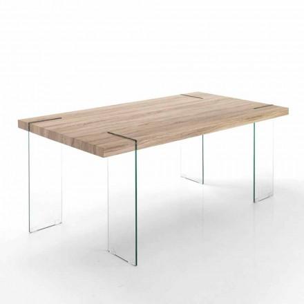 Moderne køkkenbord med Mdf top og glasfod - Joey