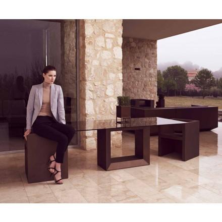 Udendørs bord Vela 200x100 cm af Vondom, i polyethylenharpiks
