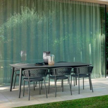 Moon Alu udendørs bord strækker sig op til 3mt ved Talenti, med keramik