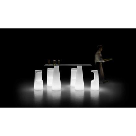 Design udendørs bord med lysende base med LED-lys fremstillet i Italien - Forlina