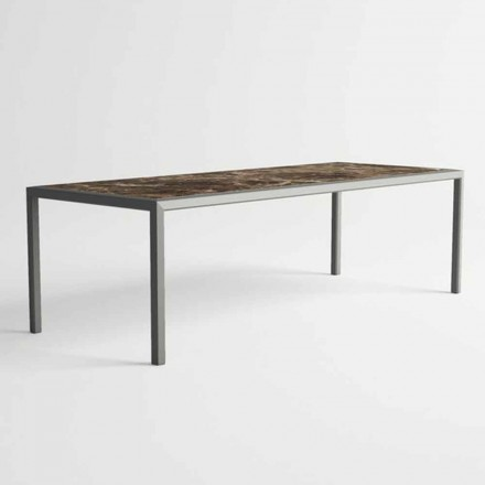 Udendørs bord i aluminium til moderne design til have - Mississippi2