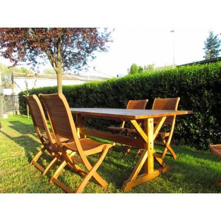 Rustik stil fir træ bord lavet i Italien - Clinio