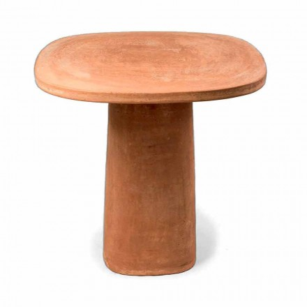 Firkantet Terracotta udendørs bord 70x70 cm Fremstillet i Italien - Yulia