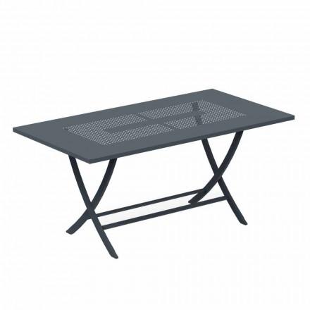 Foldet udendørs bord i moderne malet metal fremstillet i Italien - Doria